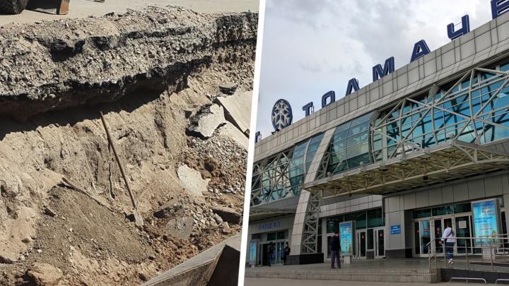 Пятерых рабочих завалило землёй в аэропорту Толмачёво