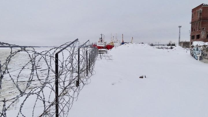В Архангельске на Мосеевом острове выставили на продажу причал за 120 миллионов рублей