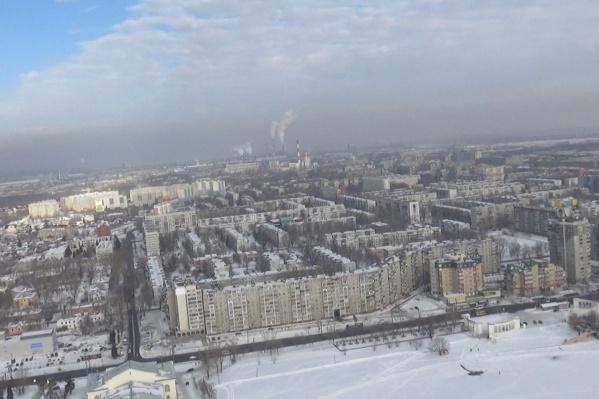 Плотный смог стоит над Челябинском второй день
