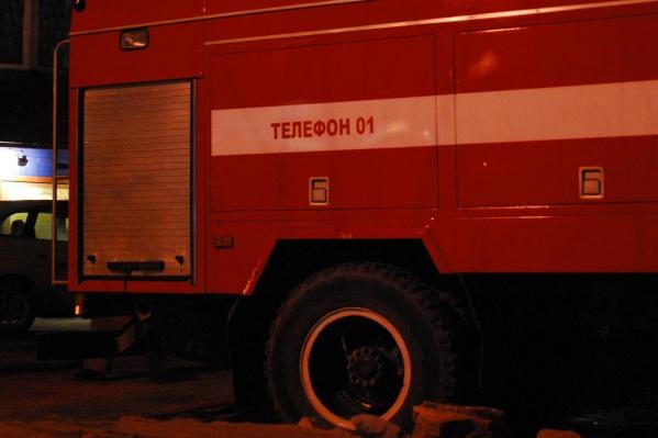 Пожар произошёл в доме на улицеФадеева