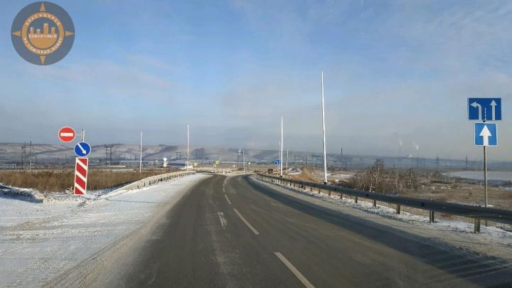 Освещение на Енисейском тракте при заезде в «Солнечный» обещают подключить к концу декабря