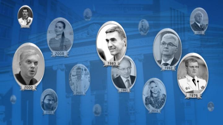 Выпускной альбом: в День студента вузы Екатеринбурга померились известными выпускниками