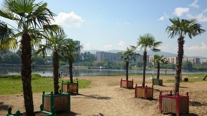 Первый городской пляж в Красноярске официально закрыли