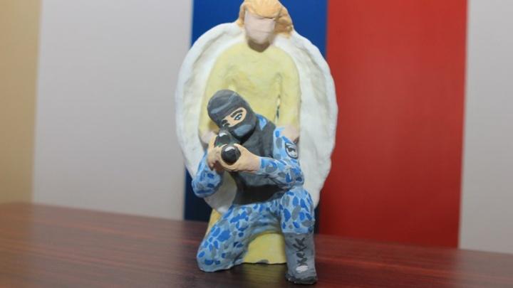 Дети из Башкирии смастерили полицейских для всероссийского конкурса