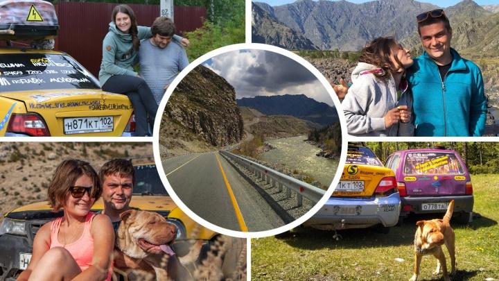 Двое в «Нексии», не считая собаки: семья из Магнитогорска путешествует по России без гроша в кармане