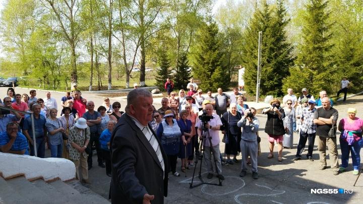 Котельной нет, но вы держитесь: в Морозовке под Омском прошёл митинг