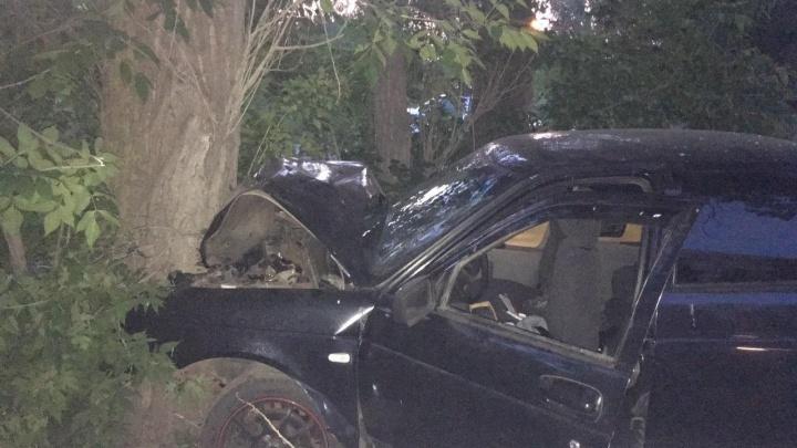 Машина всмятку: пьяный водитель в Тольятти протаранил дерево