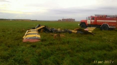 Под Новосибирском при крушении умер пилот самолета ДОСААФ