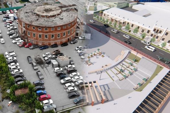 Видите изменения? А они есть. Территорию круглой бани и само здание планируют сильно изменить. Как еще поменяется центр — рассказываем в нашей новости