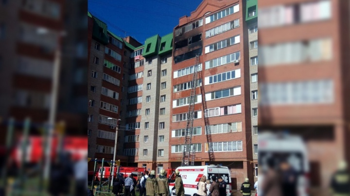 В Уфе из-за сильного пожара эвакуировали многоэтажку
