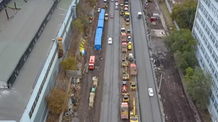 Свежее видео с Заводского шоссе: движение открыли в обе стороны
