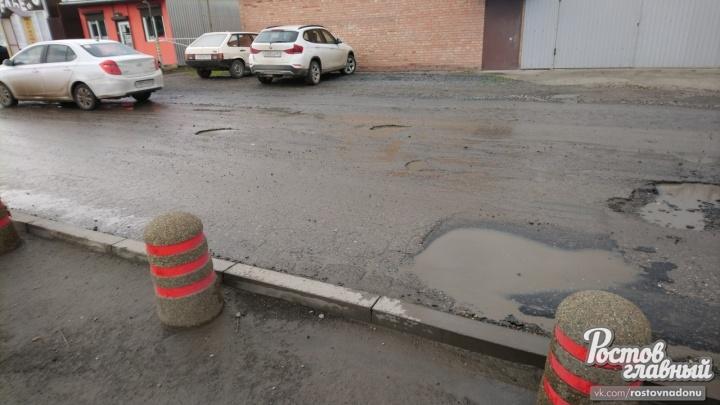 Опять двадцать пять: в Ростове на только отремонтированной дороге появились ямы
