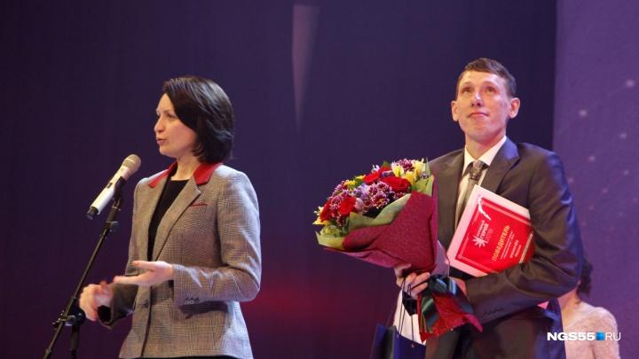 Омич, восстановивший сквер на Лукашевича, получил премию «Народный герой» из рук мэра
