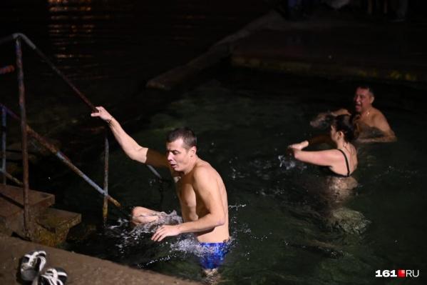 Ростовчане не испугались холодной воды