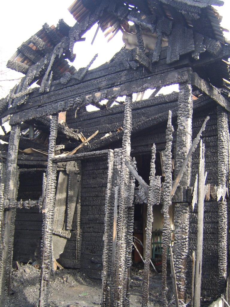 Дом полностью сгорел