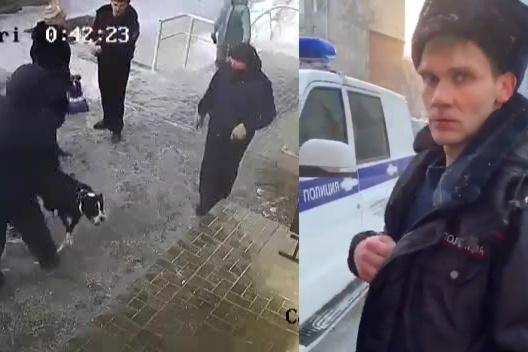 Против хозяев собаки возбуждено уголовное дело за оскорбление и насилие в отношении участкового Будуквы (на фото справа)