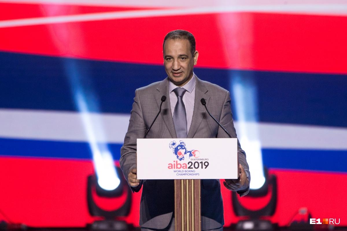 Исполняющий обязанности президента Международной ассоциации бокса (AIBA) Мохамед Мустасан