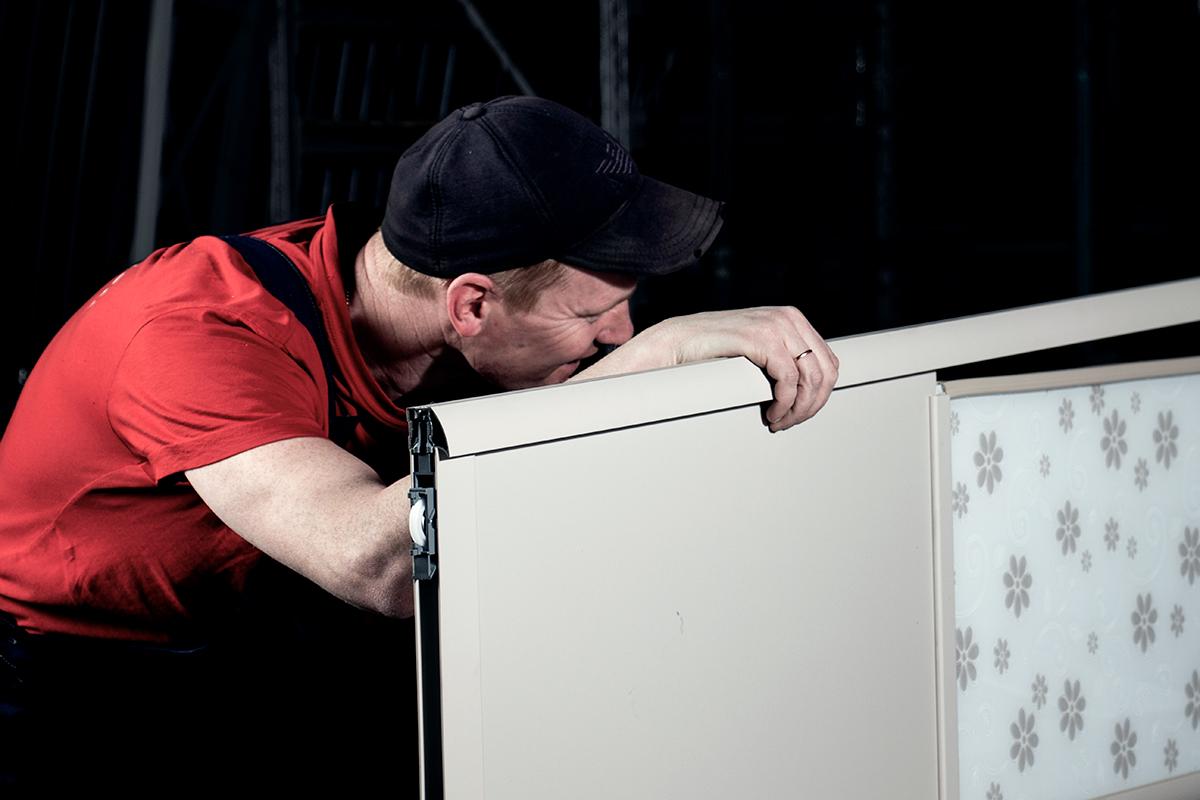 Сборка дверей для шкафов-купе