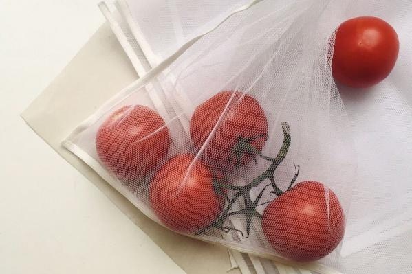Многоразовые мешочки помогают отказаться от полиэтиленовых пакетов, которые быстро превращаются в мусор