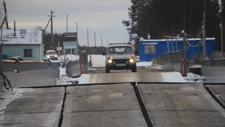 Из-за аномально теплой зимы в Архангельской области работает меньше трети ледовых переправ