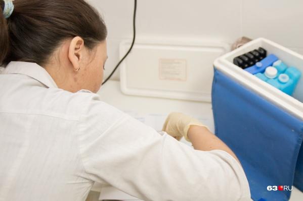 """В Самарской области прививки от гриппа сделали <nobr class=""""_"""">662 952</nobr> человека"""