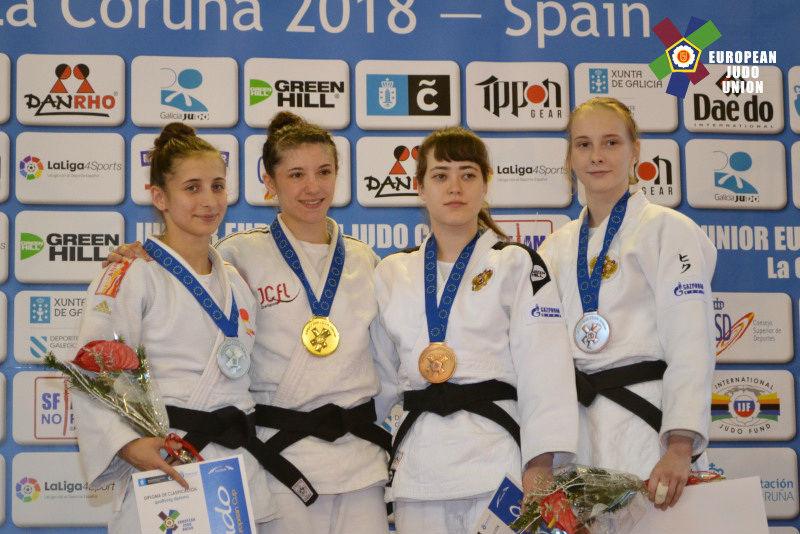 В «утешительном» турнире Владлена Фарахутдинова (третья слева) одолела спортсменку из Португалии