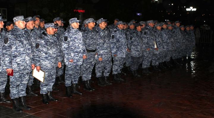 Сотня полицейских вернулась из полугодовой командировки на Кавказ
