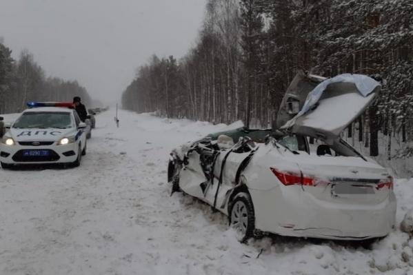 Столкновение трех автомобилей произошло на 182-м километре трассы<br>