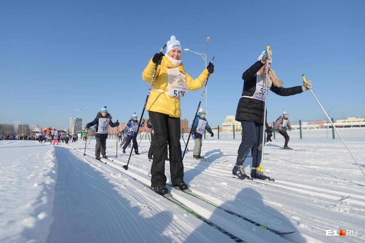 Все отметили, что лыжня очень хорошая