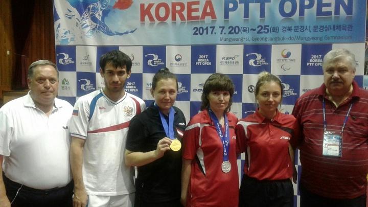 Курганская спортсменка завоевала золотую медаль в финале чемпионата в Корее по настольному теннису