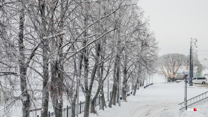 МЧС предупреждает о похолодании в Прикамье до -31 градуса