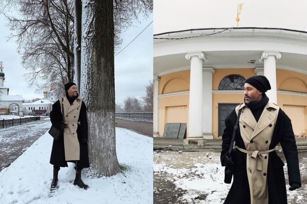 Александр Рогов устроил модную фотосессию на фоне города