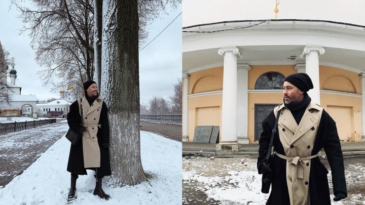 Стилист Александр Рогов выгулял по Ярославлю ультрамодное пальто