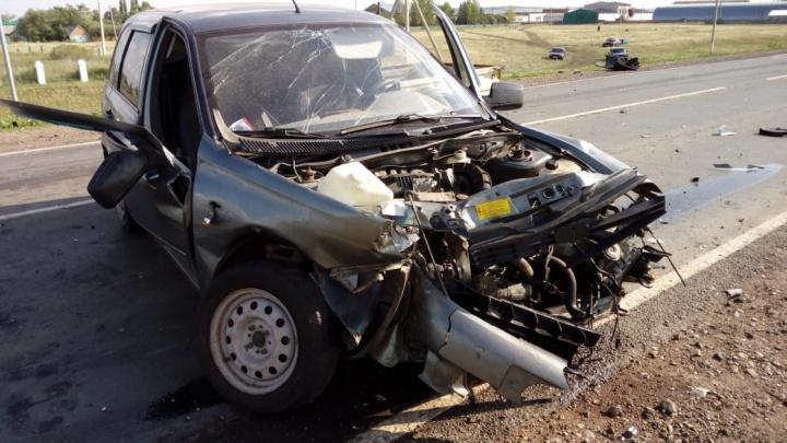 За рулем сидел 75-летний мужчина: подробности массовой аварии на трассе Уфа — Оренбург