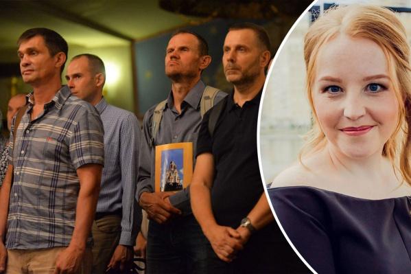 Оксана Маклакова не понимает мужчин, которые молятся против принятия закона о домашнем насилии