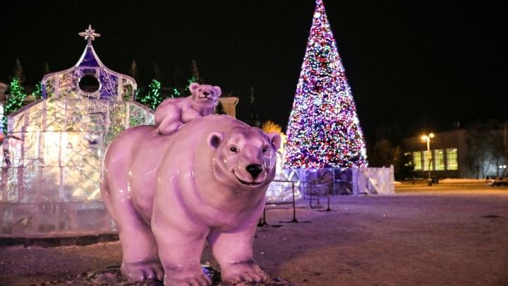 Каждый вечер на площади Ленина в Кургане будет зажигаться новогодняя иллюминация