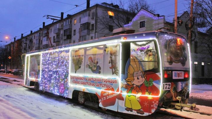 В Ярославле опубликовали расписание «Новогоднего трамвая»