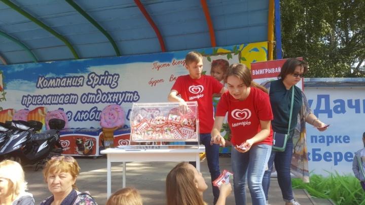 Новосибирцы устроили давку из-за бесплатного мороженого