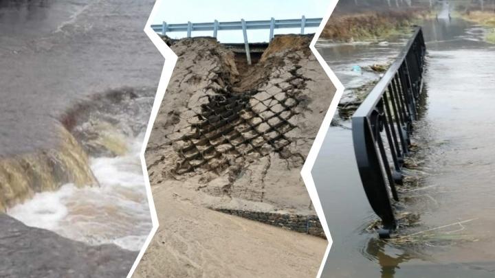 Реки вышли из берегов, под водой дороги и парки: хроника потопа в Ярославской области