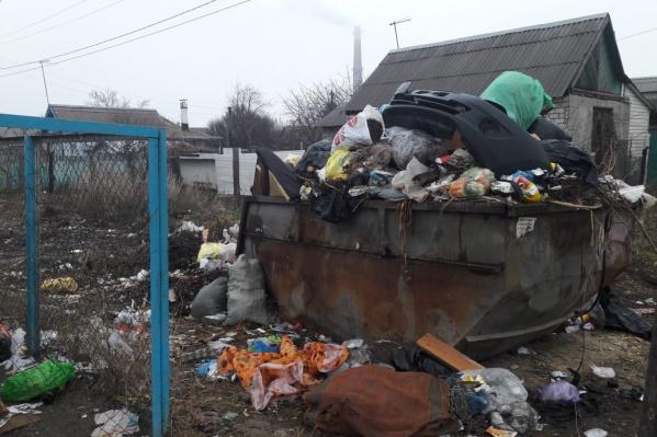 Проблемы с вывозом мусора начались в поселке Забазный еще несколько месяцев назад