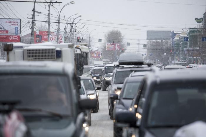 Общая загруженность дорог в Новосибирске —7 баллов