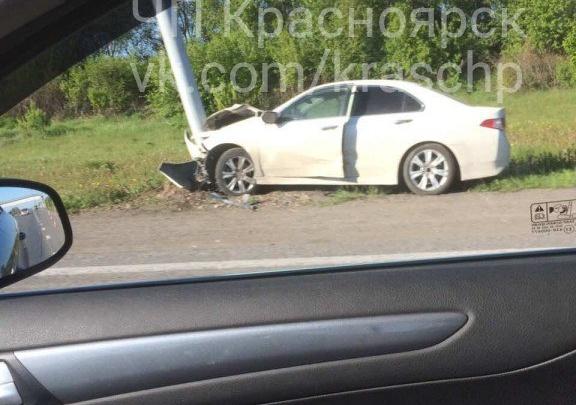 Новосибирский лихач изуродовалAccord в глупой аварии по пути в Красноярск и попал в больницу