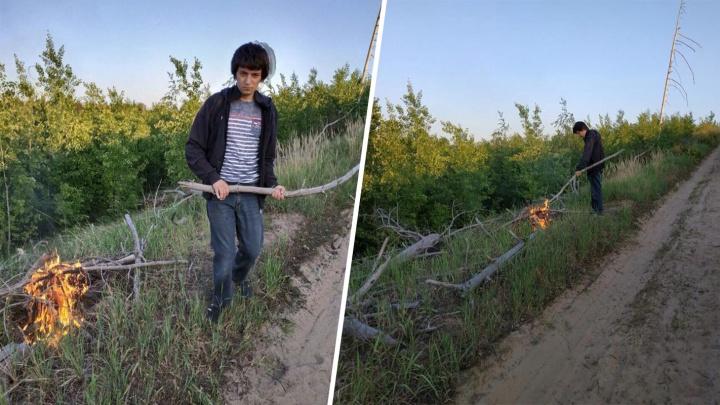 Огонь разошелся по оврагу: в Тольятти ищут агрессивного поджигателя лесов