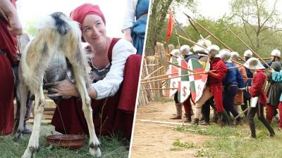 Штурмовали крепость и доили коз: на один вечер Самарская область провалилась в средневековье