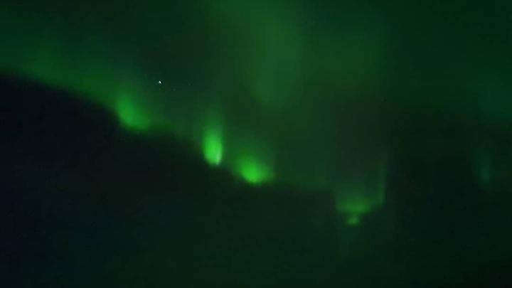 Невероятной красоты полярное сияние сняли в окрестностях Норильска
