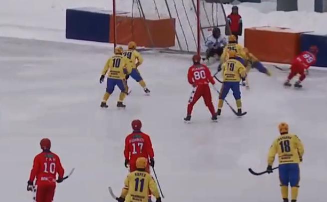 Хоккей с мячом: «Сибсельмаш» разгромил гостей из Красногорска