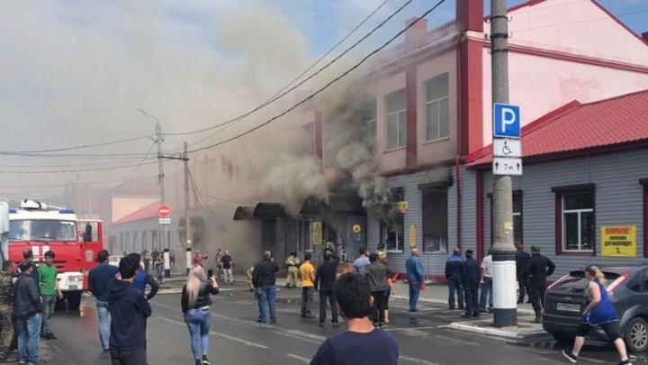 В Самарской области сгорело кафе «Чайхана»