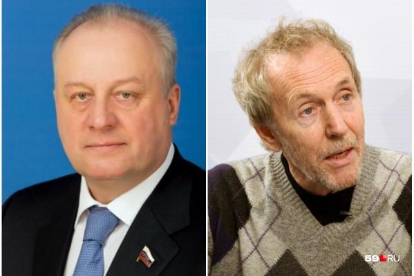 В список новых украинских санкций попали и пермские политики — Игорь Шубин (слева) и Валерий Трапезников (справа)