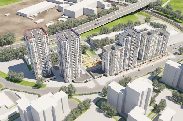 Всего в жилом квартале «Новая Ботаника» на Крестинского будет построено четыре дома и трёхуровневый наземный паркинг
