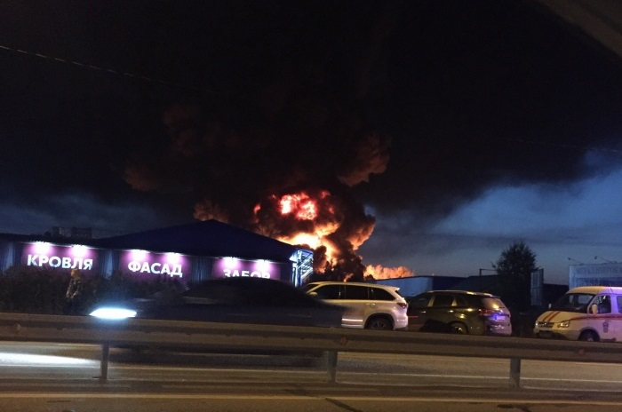 Для тушения вчерашнего пожара пришлось привлечь более ста человек